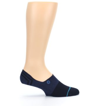 Image of Navy Gamut Men's No Show Liner Socks (side-1-24)