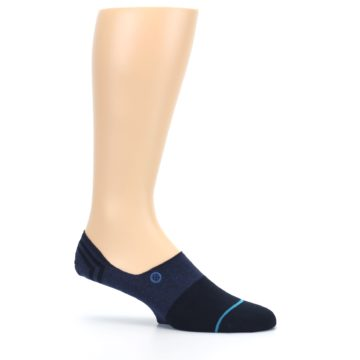 Image of Navy Gamut Men's No Show Liner Socks (side-1-25)