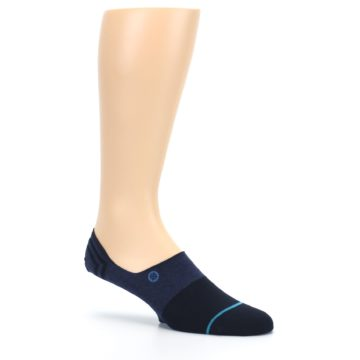 Image of Navy Gamut Men's No Show Liner Socks (side-1-26)
