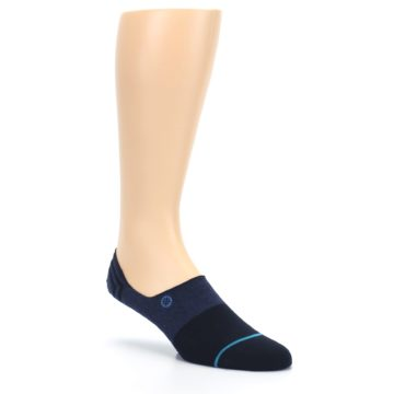 Image of Navy Gamut Men's No Show Liner Socks (side-1-27)