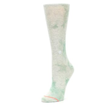 Image of Mint Green Tie Dye Women's Casual Sock (side-2-09)