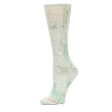 Image of Mint Green Tie Dye Women's Casual Sock (side-2-10)