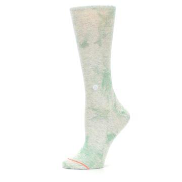 Image of Mint Green Tie Dye Women's Casual Sock (side-2-11)