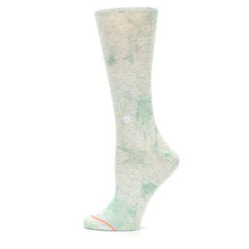Image of Mint Green Tie Dye Women's Casual Sock (side-2-12)