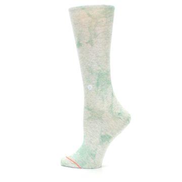 Image of Mint Green Tie Dye Women's Casual Sock (side-2-13)
