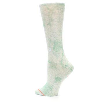 Image of Mint Green Tie Dye Women's Casual Sock (side-2-back-14)