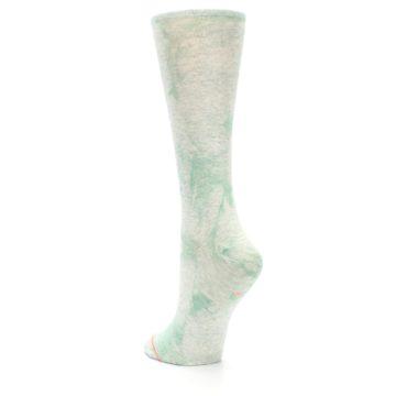 Image of Mint Green Tie Dye Women's Casual Sock (side-2-back-16)