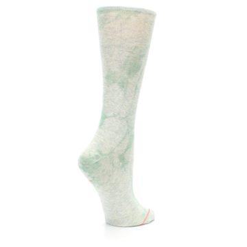 Image of Mint Green Tie Dye Women's Casual Sock (side-1-23)