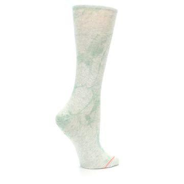 Image of Mint Green Tie Dye Women's Casual Sock (side-1-24)
