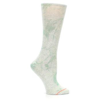 Image of Mint Green Tie Dye Women's Casual Sock (side-1-25)
