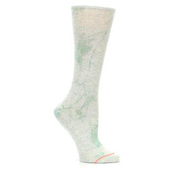 Image of Mint Green Tie Dye Women's Casual Sock (side-1-26)
