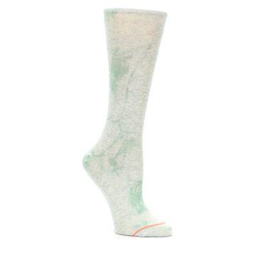 Image of Mint Green Tie Dye Women's Casual Sock (side-1-27)
