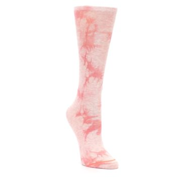 Image of Pink Tie Dye Women's Casual Sock (side-1-front-02)
