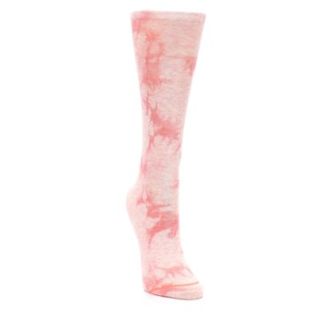 Image of Pink Tie Dye Women's Casual Sock (side-1-front-03)