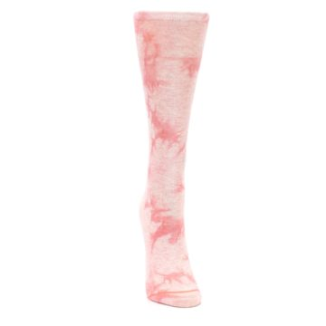 Image of Pink Tie Dye Women's Casual Sock (front-04)
