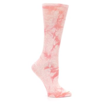 Image of Pink Tie Dye Women's Casual Sock (side-1-25)