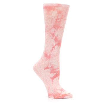 Image of Pink Tie Dye Women's Casual Sock (side-1-26)