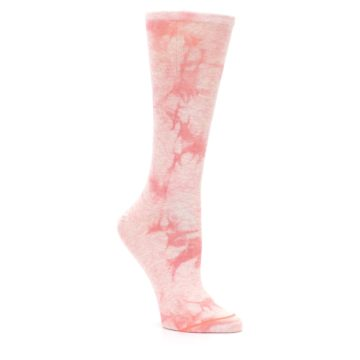 Image of Pink Tie Dye Women's Casual Sock (side-1-27)