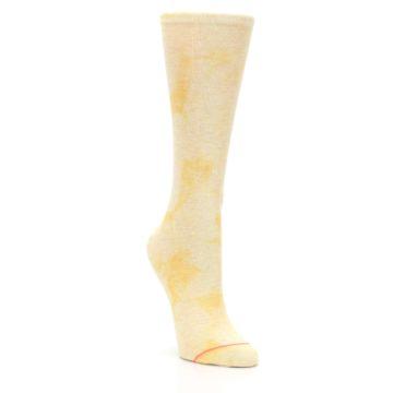 Image of Yellow Tie Dye Women's Casual Sock (side-1-front-02)