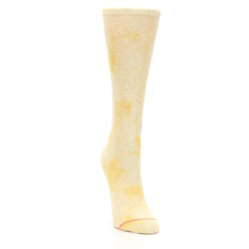 Image of Yellow Tie Dye Women's Casual Sock (side-1-front-03)