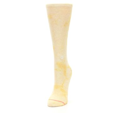 Image of Yellow Tie Dye Women's Casual Sock (side-2-front-07)