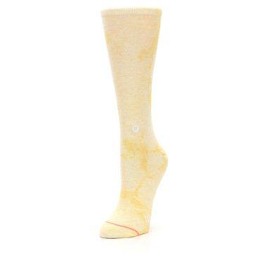 Image of Yellow Tie Dye Women's Casual Sock (side-2-front-08)