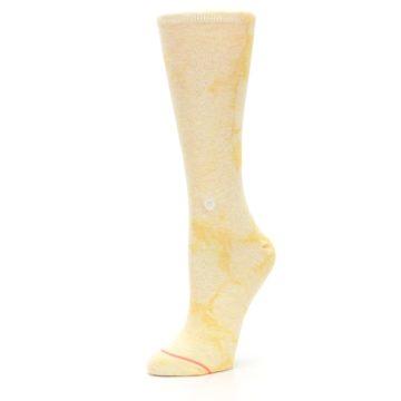Image of Yellow Tie Dye Women's Casual Sock (side-2-09)