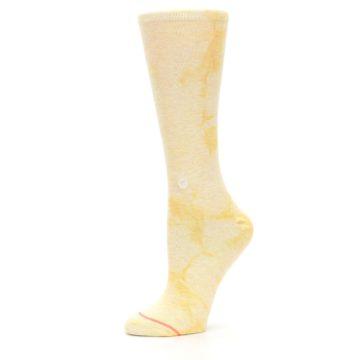Image of Yellow Tie Dye Women's Casual Sock (side-2-10)