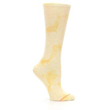 Image of Yellow Tie Dye Women's Casual Sock (side-1-25)