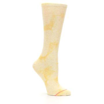 Image of Yellow Tie Dye Women's Casual Sock (side-1-26)