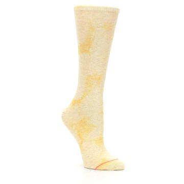 Image of Yellow Tie Dye Women's Casual Sock (side-1-27)