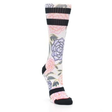 Image of Lilac Ice Posie Floral Women's Casual Sock (side-1-front-02)