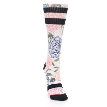Image of Lilac Ice Posie Floral Women's Casual Sock (side-1-front-03)