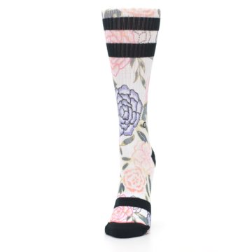 Image of Lilac Ice Posie Floral Women's Casual Sock (side-2-front-06)