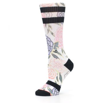 Image of Lilac Ice Posie Floral Women's Casual Sock (side-2-10)