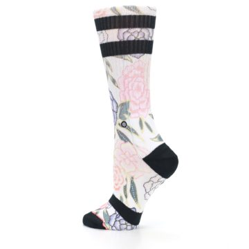 Image of Lilac Ice Posie Floral Women's Casual Sock (side-2-13)