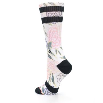 Image of Lilac Ice Posie Floral Women's Casual Sock (side-2-back-14)