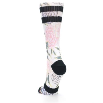 Image of Lilac Ice Posie Floral Women's Casual Sock (side-2-back-16)