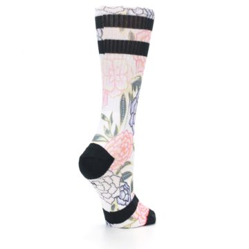 Image of Lilac Ice Posie Floral Women's Casual Sock (side-1-back-22)