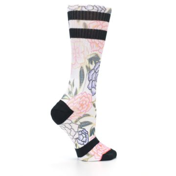Image of Lilac Ice Posie Floral Women's Casual Sock (side-1-24)