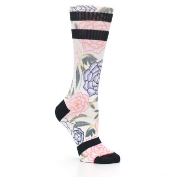 Image of Lilac Ice Posie Floral Women's Casual Sock (side-1-26)