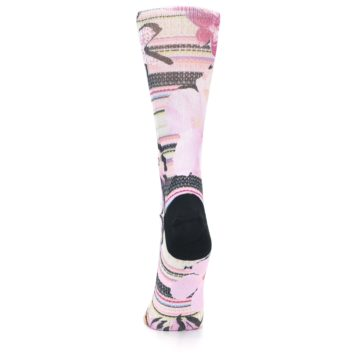 Image of Pink Magenta Flowers Women's Casual Sock (back-18)