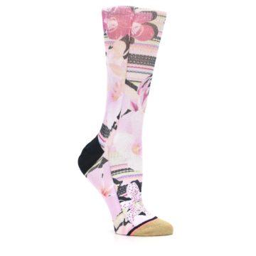 Image of Pink Magenta Flowers Women's Casual Sock (side-1-26)