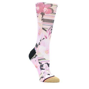 Image of Pink Magenta Flowers Women's Casual Sock (side-1-27)