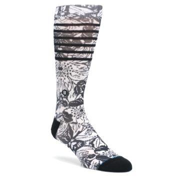 Black-White-Floral-Pattern-Mens-Casual-Socks-STANCE