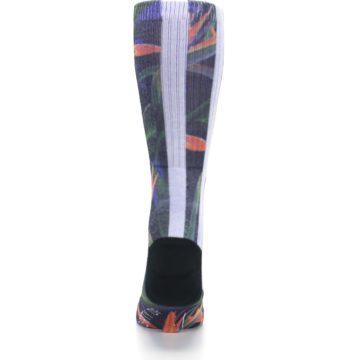 Image of Green Blue Orange Floral Men's Casual Socks (back-18)