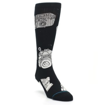 Image of Black White Cameras Men's Casual Socks (side-1-front-02)
