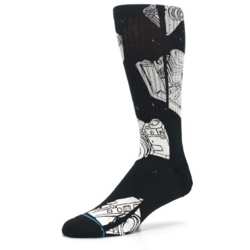 Image of Black White Cameras Men's Casual Socks (side-2-09)