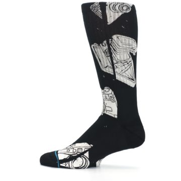 Image of Black White Cameras Men's Casual Socks (side-2-12)