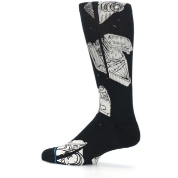 Image of Black White Cameras Men's Casual Socks (side-2-13)